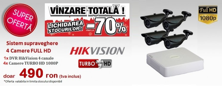 KIT  4 CAMERE HD 2MPx